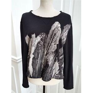 All Saints Zebu Isola Cropped Cotton Sweatshirt